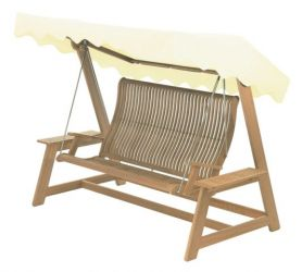 Teak Bengal Garden Swing Seat with Canopy
