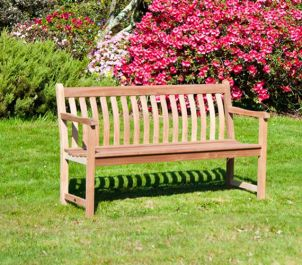 Personalised Alexander Rose Broadfield 1.55m (5ft) Commemorative Memorial Mahogany Bench
