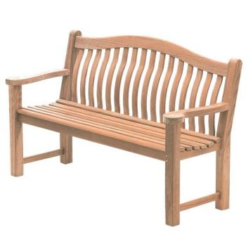 Personalised Alexander Rose Turnberry 1.55m (5ft) Commemorative Memorial Mahogany Bench