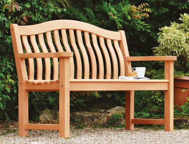 Alexander Rose Turnberry 1.55m (5ft) Mahogany Bench