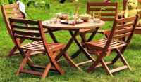 Karri Children's Garden Dining Set - Table and 4 Chairs