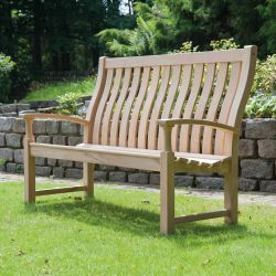 Personalised Alexander Rose Roble Santa Cruz 1.53m (5ft) Wooden Commemorative Memorial High Back Bench