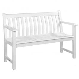 4ft New England White Broadfield Bench by Alexander Rose