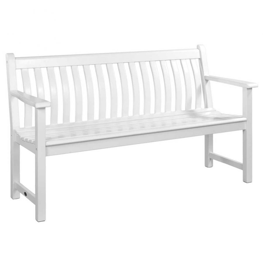 5ft New England White Broadfield Bench by Alexander Rose