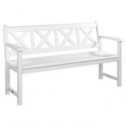5ft New England White Drachmann Bench by Alexander Rose