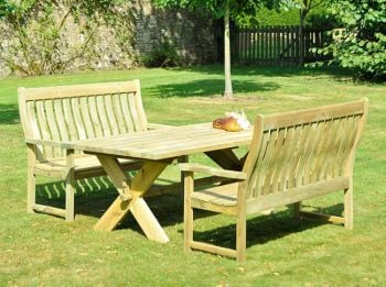 Alexander Rose Farmer's 1.57m (5ft) Pine High Back Bench