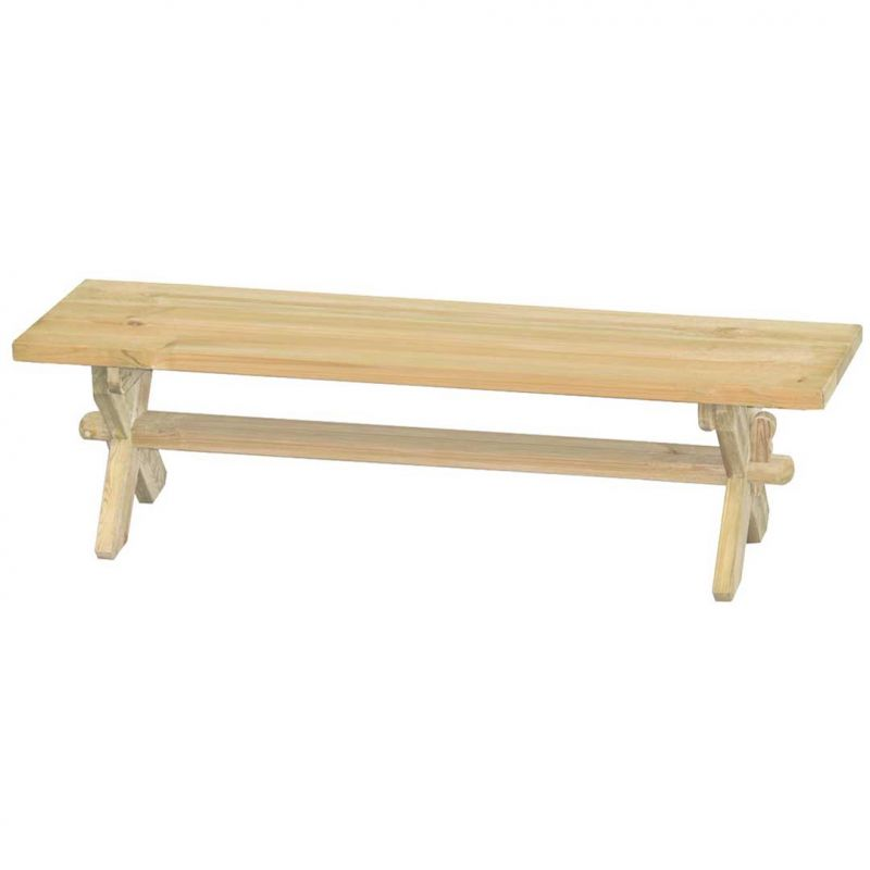 Alexander Rose Farmer's 1.8m (5ft 11ins) Pine Backless Bench