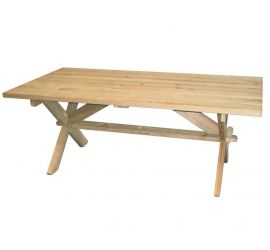 1.9 × 1m Pine Farmer's Dining Table by Alexander Rose