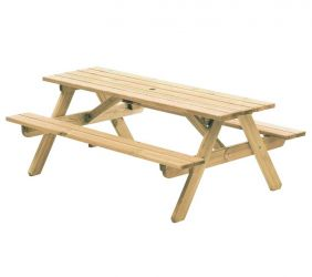 6ft Pine Woburn Picnic Table by Alexander Rose