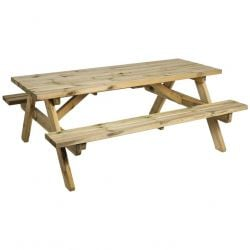 6ft Pine Heavy Duty Picnic Table by Alexander Rose