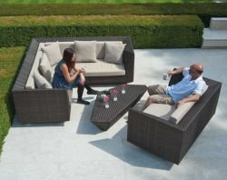 Alexander Rose Ocean Maldives 2 Seater Rattan Garden Sofa with Cushion