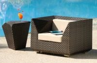 Alexander Rose Ocean Maldives Rattan Garden Armchair with Cushion
