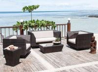 Alexander Rose Ocean Maldives 150cm Rattan Garden Coffee Table