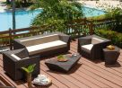 Alexander Rose Ocean Maldives 3 Seater Rattan Garden Sofa with Cushion