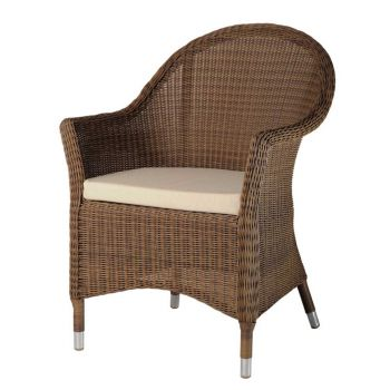 Alexander Rose San Marino 4 Seater Round Garden Furniture Set with Wicker Armchairs