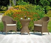Alexander Rose San Marino Curved Top Wicker Garden Armchair with Cushion