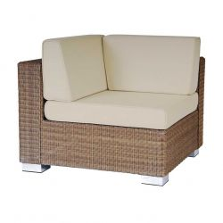 Alexander Rose San Marino Wicker Corner Piece Garden Sofa with Cushion