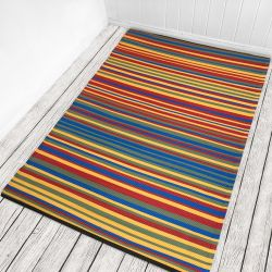 150cm x 120cm (5ft x 8ft) Reversible Outdoor Funzie Rug - Multicolour