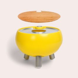 Freebird 40 cm Mini Outdoor Sink And Drink Cooler - Egg Yolk