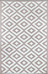 180cm x 270cm (6ft x 9ft) Reversible Outdoor Nirvana Rug - Taupe / White