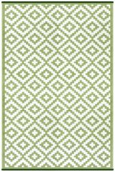 150cm x 240cm (5ft x 8ft) Reversible Outdoor Nirvana Rug - Leaf Green / White