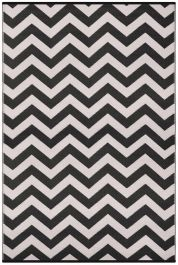 120cm x 180cm (4ft x 6ft) Reversible Psychedelia Rug - Black / White