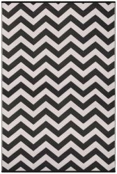 90cm x 150cm (3ft x 5ft) Reversible Outdoor Psychedelia Rug - Black / White