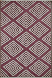 120cm x 180cm (4ft x 6ft) Reversible Outdoor Legend Rug - Mahogany / Cream