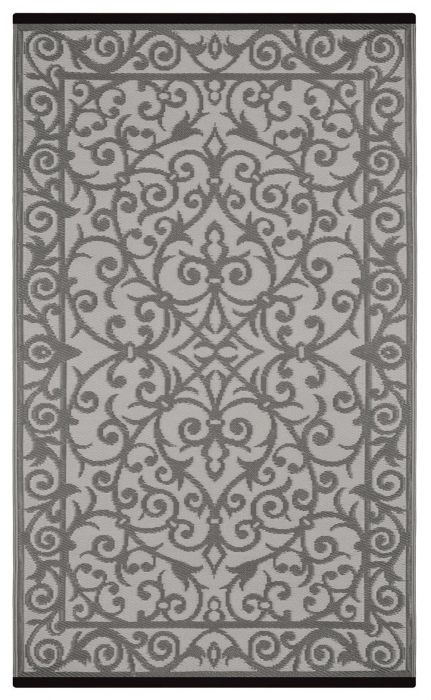120cm x 180cm (4ft x 6ft) Reversible Outdoor Gala Rug - Taupe Grey / Buttercream