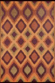 120cm x 180cm (4ft x 6ft) Reversible Outdoor Magnus Rug - Orange / Gold