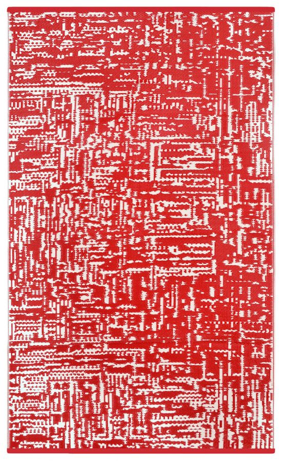 150cm x 240cm (5ft x 8ft) Reversible Outdoor Cosmopolitan Rug - Red / White
