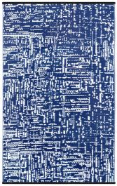 120cm x 180cm (4ft x 6ft) Reversible Outdoor Cosmopolitan Rug - True Blue / White