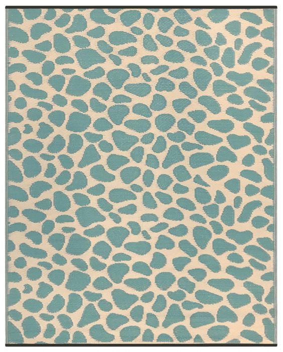 150cm x 240cm (5ft x 8ft) Reversible Outdoor Pebbles Rug - Green / Sand