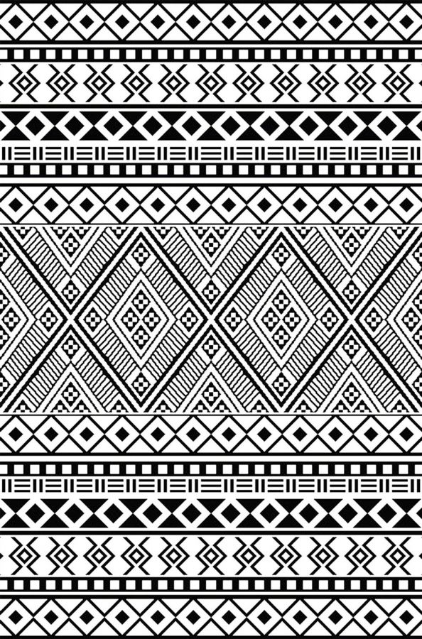 90cm x 150cm (3ft x 5ft) Reversible Outdoor Relic Rug - Black / White