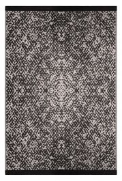 120cm x 180cm (4ft x 6ft) Reversible Outdoor Rio Rug - Black / Beige