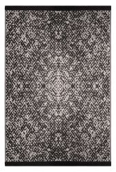 180cm x 270cm (6ft x 9ft) Reversible Outdoor Rio Rug - Black / Beige