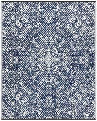 150cm x 240cm (5ft x 8ft) Reversible Outdoor Rio Rug - Dark Blue / White