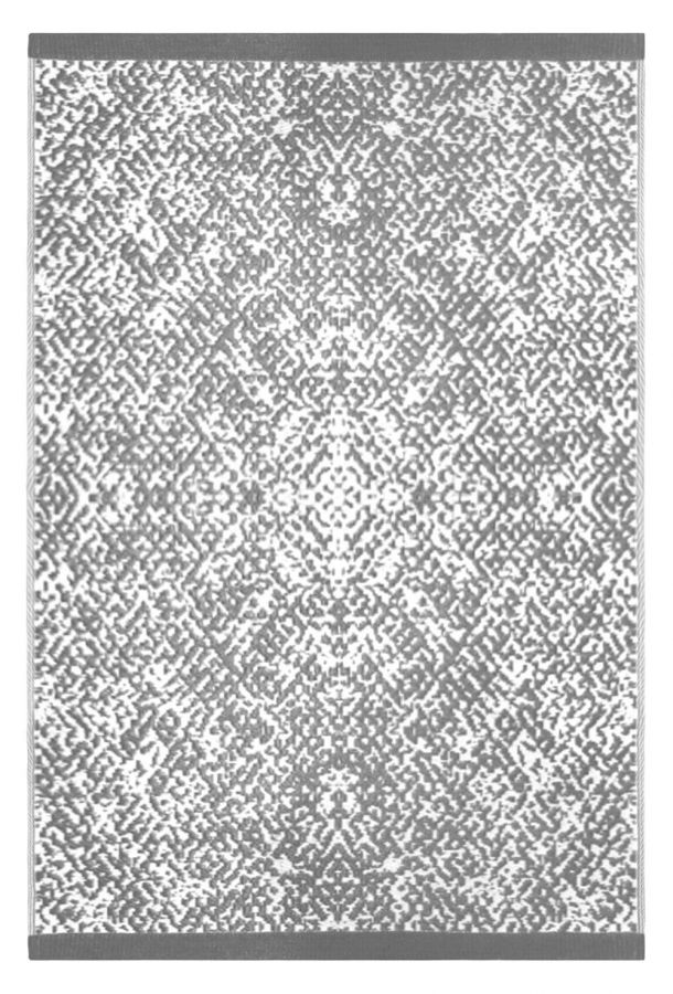 120cm x 180cm (4ft x 6ft) Reversible Outdoor Rio Rug - Grey / White