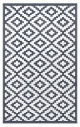 180cm x 270cm (6ft x 9ft) Reversible Outdoor Nirvana Rug - Charcoal Grey / White
