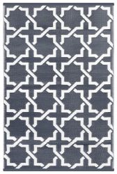 180cm x 270cm (6ft x 9ft) Reversible Outdoor Nirvana Rug - Port Wine / White