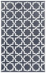 150cm x 240cm (5ft x 8ft) Reversible Outdoor Serene Rug - Grey / White