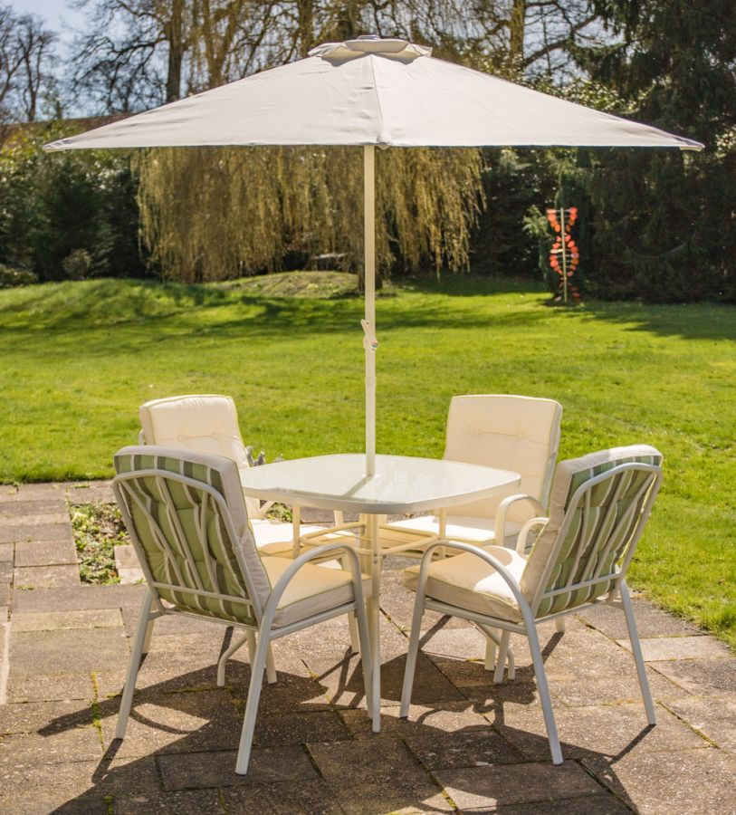 Hadleigh 4 Seater Garden Dining Furniture Set - by Hectare™