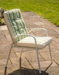 Hadleigh Set Of 6 Armchairs With Cushions In White By Hectare®