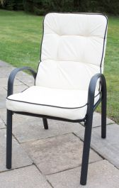 Hadleigh Set Of 6 Armchairs With Cushions In Black By Hectare™