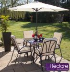 Hadleigh 4 Seater Steel Garden Dining Set by Hectare™