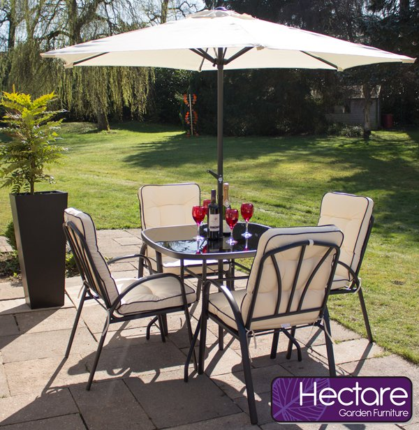 Hadleigh 4 Seater Garden Dining Set by Hectare™