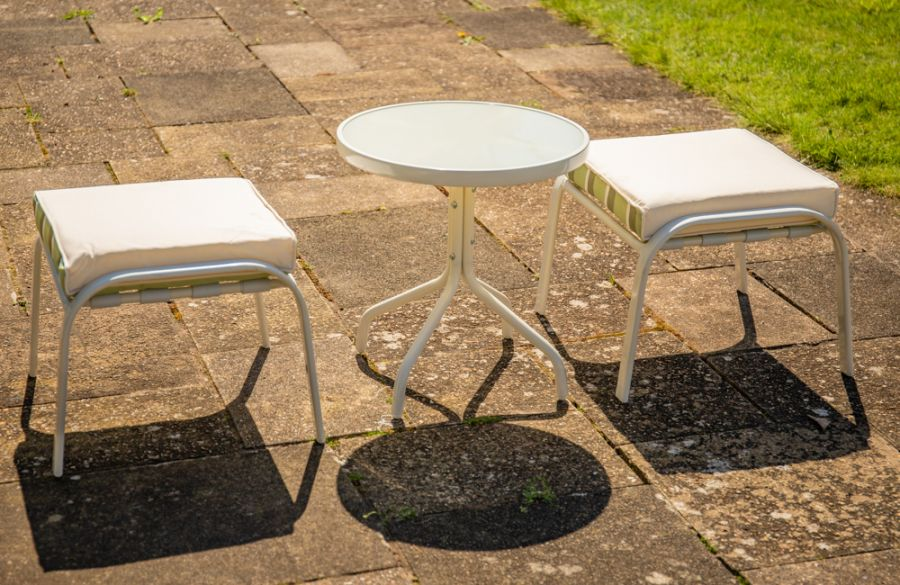 Hadleigh Reclining 6 Seater Garden Dining And Leisure Furniture Set In White By Hectare™