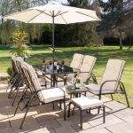 Hadleigh Reclining 6 Seater Garden Dining and Leisure Set By Hectare™