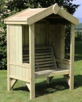 Cottage Garden Two Wooden Seater Arbour - 1.3m (4ft 5in)