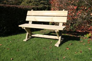 Ashcombe Two Seater Wooden Bench - 1.2m (3ft 11in)